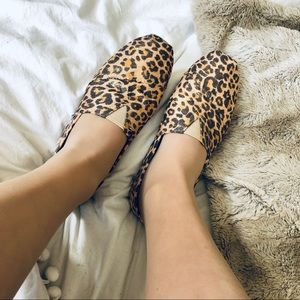 Shoes - Reminisce Sparkly Cheetah Print Flats/Loafers